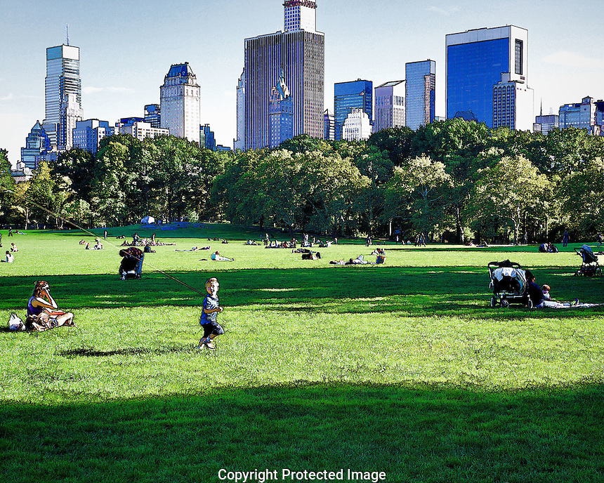 Central Park during the week is a relatively quiet place and those there can enjoy time away from the noise and frenetic pace that defines New York City.
