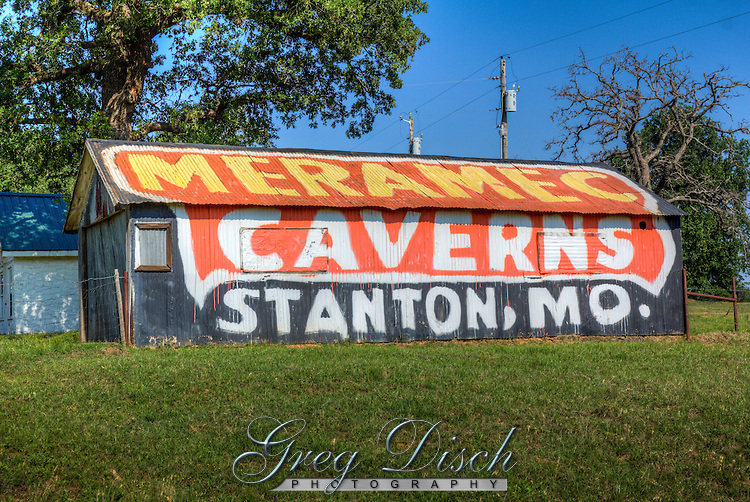 The last remaining Meramec Caverns barn on Route 66 in Oklahoma. The painted barns all along Route 66 made the Meramec Caverns a well know Route 66 destination still operating today.
