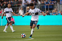 SAN JOSE, CA - AUGUST 24: Fredy Montero  #12 of the Vancouver Whitecaps during a game between Vancouver Whitecaps FC and San Jose Earthquakes at Avaya Stadium on August 24, 2019 in San Jose, California.