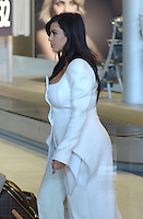 Kim Kardashian lands at Roissy airport in Paris - France