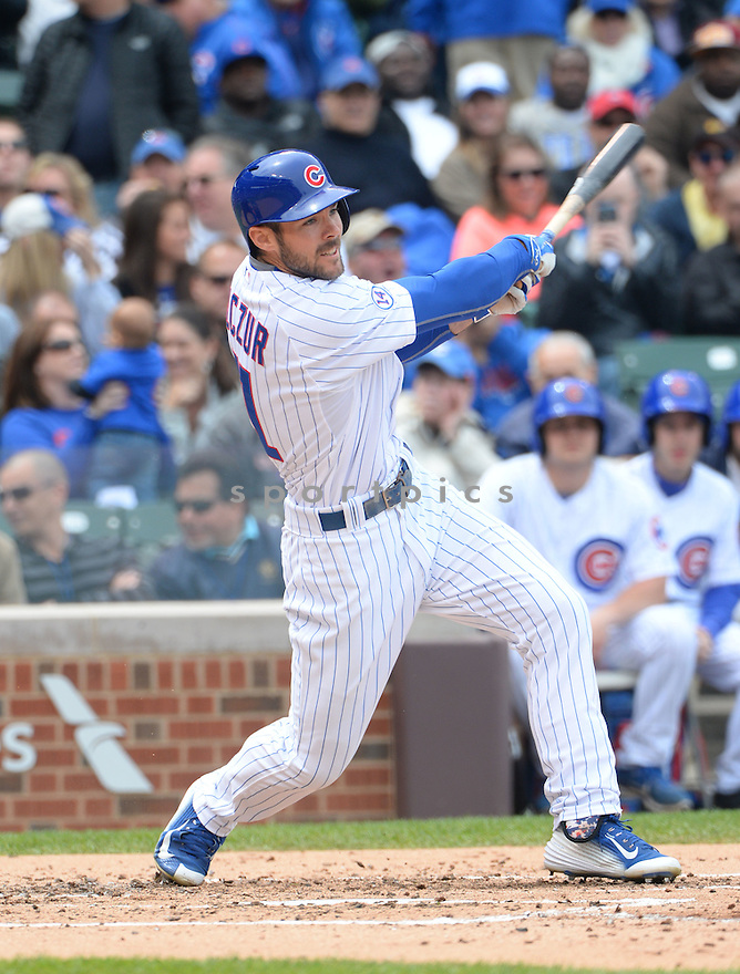 Chicago Cubs Matt Szczur (41) during a game against the New York Mets on May 14, 2015 at Wrigley Field in Chicago, IL. The Cubs beat the Mets 6-5.