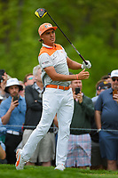 Rickie Fowler (USA) watches his tee shot on 6 during round 4 of the 2019 PGA Championship, Bethpage Black Golf Course, New York, New York,  USA. 5/19/2019.<br /> Picture: Golffile | Ken Murray<br /> <br /> <br /> All photo usage must carry mandatory copyright credit (© Golffile | Ken Murray)