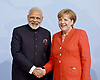 07.07.2017; Hamburg, Germany: ANGELA MERKEL AND NARENDRA MODI <br /> meet at the G20 Summit in Hamburg Germany.<br /> Mandatory Credit Photo: &copy;NEWSPIX INTERNATIONAL<br /> <br /> IMMEDIATE CONFIRMATION OF USAGE REQUIRED:<br /> Newspix International, 31 Chinnery Hill, Bishop's Stortford, ENGLAND CM23 3PS<br /> Tel:+441279 324672  ; Fax: +441279656877<br /> Mobile:  07775681153<br /> e-mail: info@newspixinternational.co.uk<br /> **All Fees Payable To Newspix International**