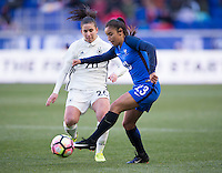Harrison, NJ - March 4, 2017: Germany tied France 0-0 during the SheBelieves Cup at Red Bull Arena.
