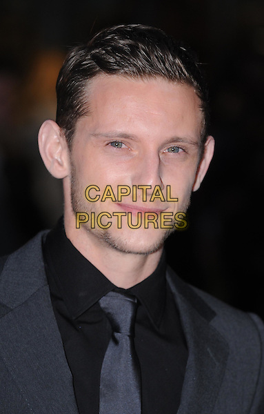 Jamie Bell.'The Adventures of Tintin: The Secret of the Unicorn' UK film premiere, 55th BFI London Film Festival, Odeon West End cinema, Leicester Square, London, England..23rd October 2011.LFF headshot portrait black shirt grey gray suit tie stubble facial hair.CAP/WIZ.© Wizard/Capital Pictures.