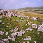 AJEM73 Upland limestone scenery Yorkshire Dales national park England