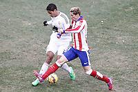 Atletico de Madrid's Fernando Torres (r) and Real Madrid's Raphael Varane during La Liga match.February 7,2015. (ALTERPHOTOS/Acero) /NORTEphoto.com