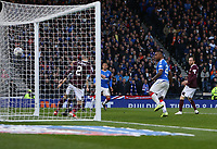 3rd November 2019; Hampden Park, Glasgow, Scotland; Scottish League Cup Football, Rangers versus Heart of Midlothian; Alfredo Morelos of Rangers scores and makes it 2-0 in the 47th minute - Editorial Use