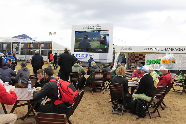 The Championship Village during Saturday's Round 3 of the 2015 Dubai Duty Free Irish Open, Royal County Down Golf Club, Newcastle Co Down, Northern Ireland 5/30/2015<br /> Picture Eoin Clarke, www.golffile.ie
