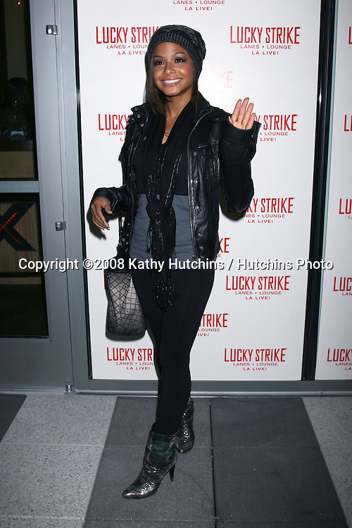 """Christina Millian  arriving at  the the Grand Opening of """"Lucky Strike"""" at L.A. Live in Los Angeles, CA.November 21, 2008.©2008 Kathy Hutchins / Hutchins Photo...."""