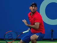 Washington, DC - July 31, 2017: Dudi Sela of Israel plays during a match with Jared Donaldson at the Citi Open July 31, 2017.  (Photo by Don Baxter/Media Images International)