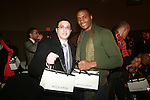 Luis F Aleman and Actor Chris Green attend  the Adrian Alicea Haute Couture Show Held at The National Black Theater 2/17/11