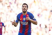 FC Barcelona's Luis Suarez during the La Liga match between Futbol Club Barcelona and Deportivo de la Coruna at Camp Nou Stadium Spain. October 15, 2016. (ALTERPHOTOS/Rodrigo Jimenez) NORTEPHOTO.COM