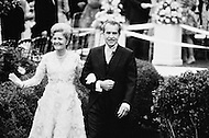 12 Jun 1971, Washington, DC, USA --- President Richard Nixon and his wife Pat attend the marriage of their daughter Tricia to Edward Cox at the White House. --- Image by © JP Laffont