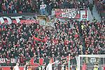 03.11.2018, BayArena, Leverkusen, GER, 1. FBL,  Bayer 04 Leverkusen vs. TSV 1899 Hoffenheim,<br />  <br /> DFL regulations prohibit any use of photographs as image sequences and/or quasi-video<br /> <br /> im Bild / picture shows: <br /> Fans, freundlich, Stimmung, farbenfroh, Nationalfarbe, geschminkt, Emotionen, Leverkusener <br /> Foto &copy; nordphoto / Meuter