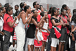 Spectators at the Military parade, Independence Day 2010, Port of Spain outside NAPA