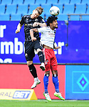 v.l. Denis Linsmayer, Jeremy Dudziak (HSV)<br />Hamburg, 28.06.2020, Fussball 2. Bundesliga, Hamburger SV - SV Sandhausen<br />Foto: Tim Groothuis/Witters/Pool//via nordphoto<br /> DFL REGULATIONS PROHIBIT ANY USE OF PHOTOGRAPHS AS IMAGE SEQUENCES AND OR QUASI VIDEO<br />EDITORIAL USE ONLY<br />NATIONAL AND INTERNATIONAL NEWS AGENCIES OUT