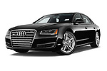 Stock pictures of low aggressive front three quarter view of 2015 Audi A8 3.0T SWB quattro tiptronic 4 Door Sedan