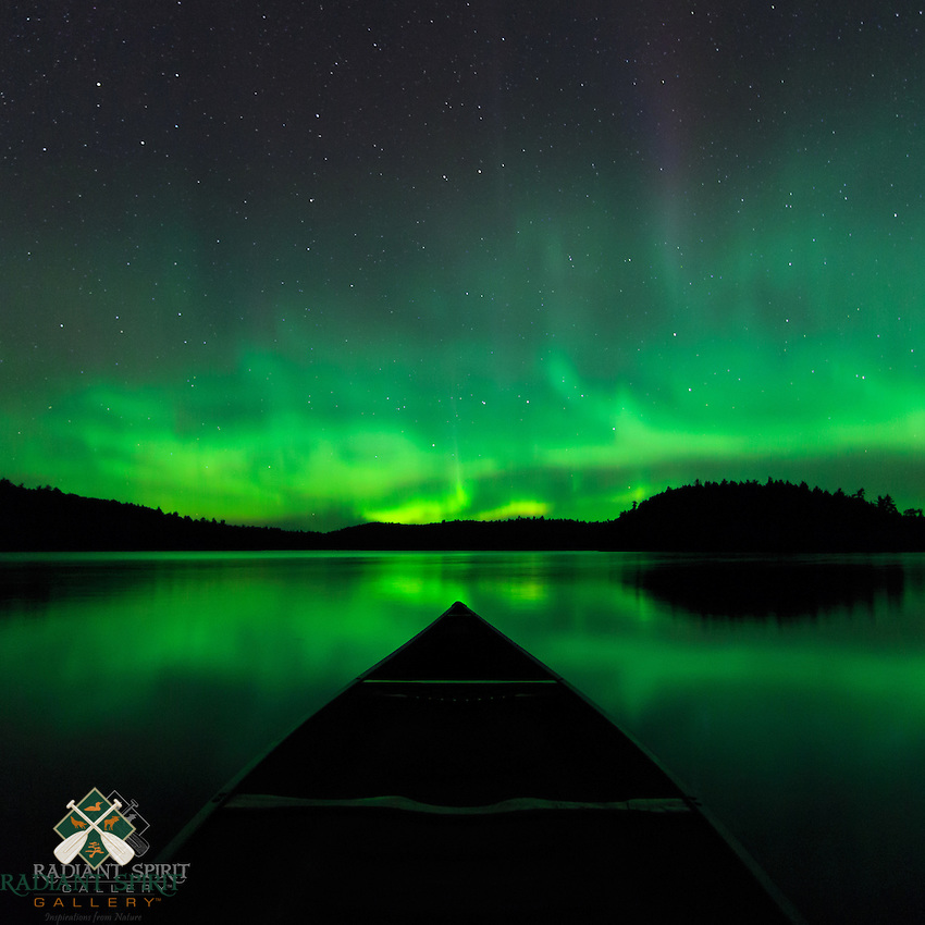 &quot;Canoeing Under the Aurora&quot;<br /> Canoeing under a star-filled sky splashed with the aurora is one of the most enjoyable and memorable experiences of a wilderness canoe trip. ~ Day 191 of Inspired by Wilderness: A Four Season Solo Canoe Journey.