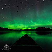 """Canoeing Under the Aurora""<br />