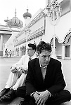 ATLANTIC CITY, NJ - JUNE 1998:  American alternative rock band They Might Be Giants (John Flansburgh, left, and John Linnell, right) pose for a portrait in June 1998 in Atlantic City, New Jersey. (Photo by Catherine McGann).Copyright 2010 Catherine McGann