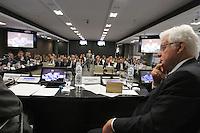 .ATENCAO EDITOR: FOTO EMBARGADA PARA VEICULO INTERNACIONAL - SAO PAULO, SP, 10 DEZEMBRO 2012 - A INFLUENCIA DO BRASIL NO SISTEMA INTERNACIONAL SOFT-POWER -  O o ministro Moreira Franco participou do debate sobre o soft power. A iniciativa, idealizada em conjunto com a Secretaria de Assuntos Estrategicos (SAE) da Presidencia da Republica, tem como objetivo a atuacao do Brasil no cenario internacional, com vistas a identificar a capacidade de o pais influenciar acoes politicas sem o uso da forca ou outra forma de coercao, porem lançando mao de estrategias de cooperacao - conceito conhecido como soft-power, na FIESP nessa terca, 11. (FOTO: LEVY RIBEIRO / BRAZIL PHOTO PRESS).