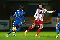 Jonathan Forte of Notts County and Jack King of Stevenage during Stevenage vs Notts County, Sky Bet EFL League 2 Football at the Lamex Stadium on 11th November 2017