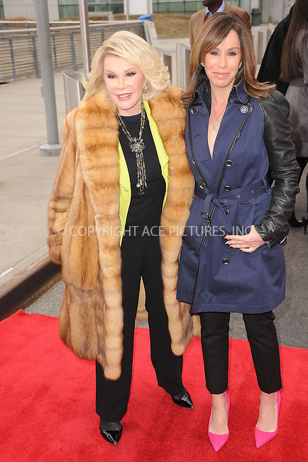 WWW.ACEPIXS.COM . . . . . .March 1, 2013...New York City....Grayline honors Joan and Melissa Rivers with Ride of Fame double decker bus on March 1, 2013 in New York City ....Please byline: KRISTIN CALLAHAN - ACEPIXS.COM.. . . . . . ..Ace Pictures, Inc: ..tel: (212) 243 8787 or (646) 769 0430..e-mail: info@acepixs.com..web: http://www.acepixs.com .