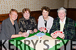 Looking for a winning hand at the Torc Annual Bridge congress in the Brehon Hotel on Friday night were l-r: Mai Corcoran Killarney, Marie Moynihan, Ursula Daly all Killarney and Mary O'Sullivan Tralee
