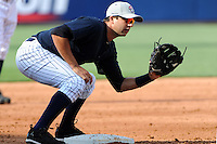 Staten Island Yankees infielder Kevin Mahoney (36) during first team workout at Richmond County Bank Ballpark at St. George in Staten Island, NY June 15, 2010.  Photo By Tomasso DeRosa/ Four Seam Images