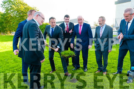 Turning of the Sod: Taoiseach Leo Varadkar turning the sod of the new extension to St. Michael's College, Listowel on Friday evening last.