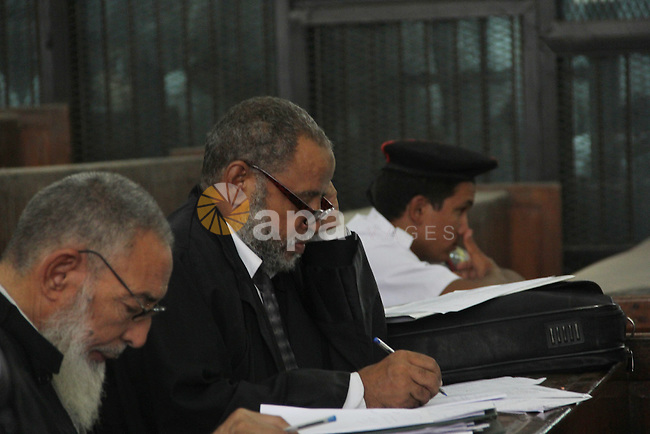 The Lawyers attend the trial of Ansar Bait Al-Maqdis group in Cairo on Oct. 13, 2015, on charges of assassination of police officers, attempted assassination of interior minister Mohamed Ibrahim and explosions near security facilities to July 4. Photo by Amr Sayed