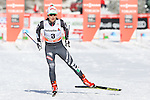 Gaia Vuerich in action at the sprint qualification of the FIS Cross Country Ski World Cup  in Dobbiaco, Toblach, on January 14, 2017. Credit: Pierre Teyssot