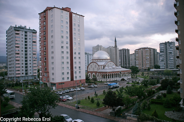 The city of Kayseri in central Anatolia, Turkey