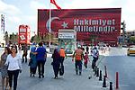 Gaint billboard in Taksim Square in istanbul, Turkey
