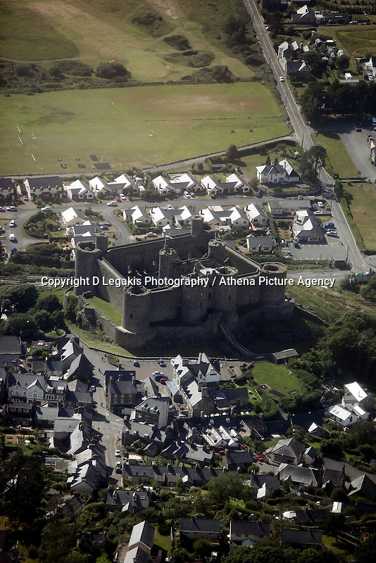 Harlech Casle<br /> Re: Aerial view of Wales. Sunday 14 June 2009<br /> Picture by D Legakis Photography / Athena Picture Agency, 24 Belgrave Court, Swansea, SA1 4PY, 07815441513