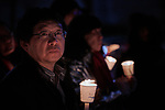 A man participates in a candlelight vigil for peace in the Korean Peninsula on December 9, 2017, in Gwanghwamun Square in Seoul, South Korea. The ecumenical Advent vigil was part of &quot;A Light of Peace&quot; campaign sponsored by the World Council of Churches and the National Council of Churches of Korea.<br /> <br /> The candlelight vigils were held in Seoul December 3-9, after which churches throughout the country planned to continue the vigils in small towns and villages.