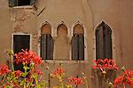 Italian building with decorative windows