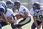 Torrance, CA 09/05/13 - Emilio Nunziati (Peninsula #9) in action during the Peninsula vs North Junior Varsity football game played at North High School in Torrance, California.