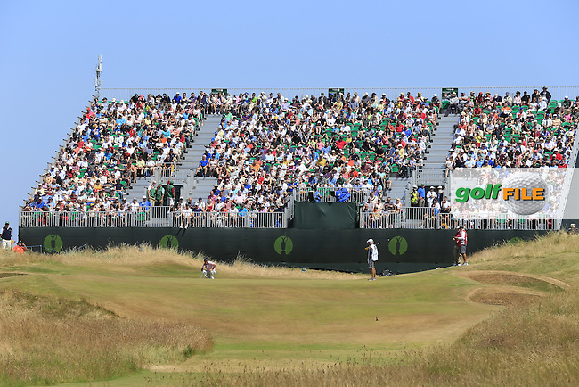 full stands and galleries during round 3 of  The 142th Open Championship Muirfield, Gullane, East Lothian, Scotland 20/7/2013<br /> Picture Fran Caffrey www.golffile.ie: