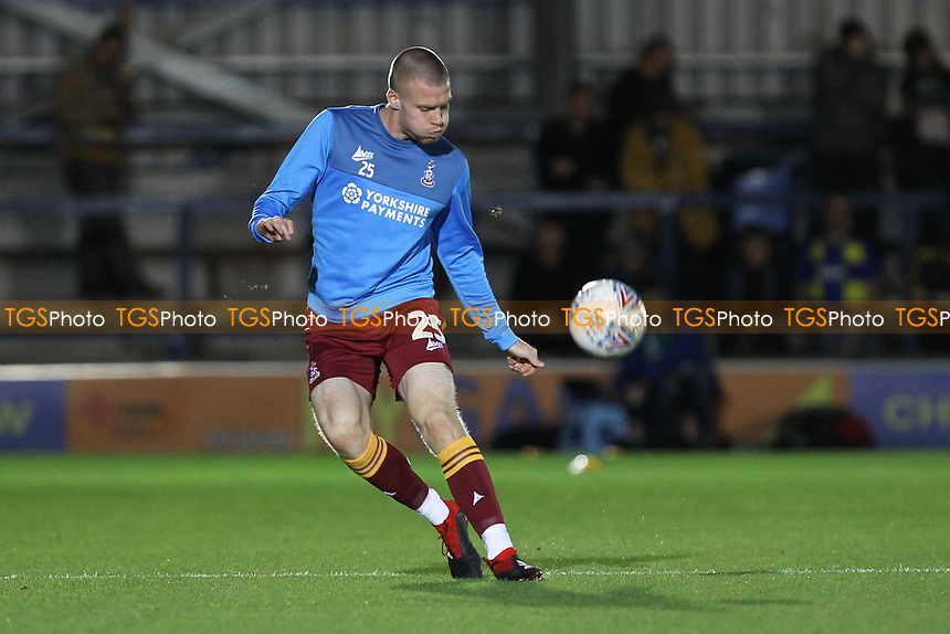 Thomas Isherwood of Bradford City warms up ahead of AFC Wimbledon vs Bradford City, Sky Bet EFL League 1 Football at the Cherry Red Records Stadium on 2nd October 2018