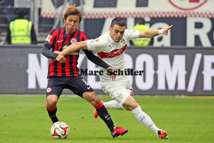 Takashi Inui (Eintracht) gegen Filip Kostic (VfB) - Eintracht Frankfurt vs. VfB Stuttgart, Commerzbank Arena
