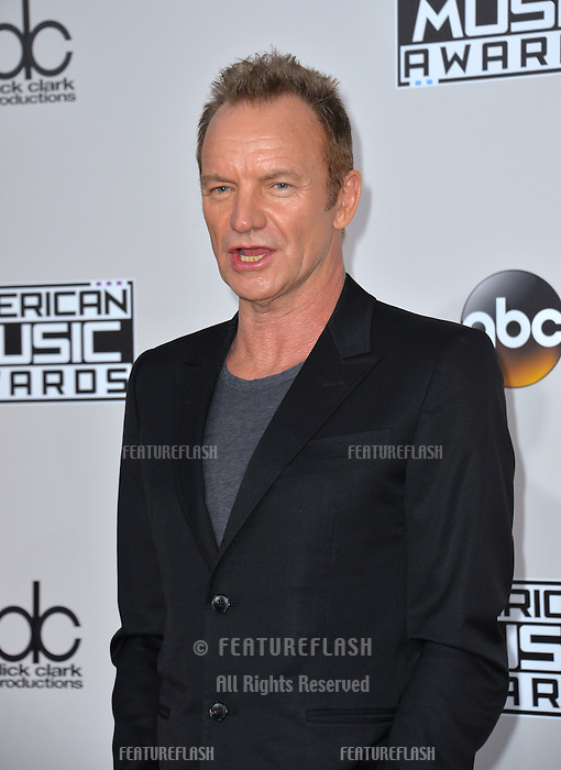 LOS ANGELES, CA. November 20, 2016: Singer Sting at the 2016 American Music Awards at the Microsoft Theatre, LA Live.<br /> Picture: Paul Smith/Featureflash/SilverHub 0208 004 5359/ 07711 972644 Editors@silverhubmedia.com