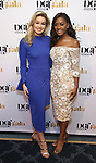 Miss California MacKenzie Freed and Miss America Nia Franklin attends the cocktail party for the Dramatists Guild Foundation 2018 dgf: gala at the Manhattan Center Ballroom on November 12, 2018 in New York City.