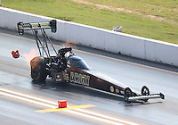 Sep 24, 2016; Madison, IL, USA; NHRA top fuel driver Tony Schumacher during qualifying for the Midwest Nationals at Gateway Motorsports Park. Mandatory Credit: Mark J. Rebilas-USA TODAY Sports