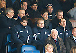 Injured trio Kirk Broadfoot, Steven Naismith and Steven Whittaker in the directors box