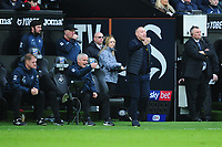 Steve Cooper Head Coach of Swansea City \shouts instructions to his team from the dug-out during the Sky Bet Championship match between Swansea City and West Bromwich Albion at the Liberty Stadium in Swansea, Wales, UK. Saturday 07 March 2020