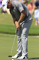 Lee Westwood (ENG) putts on the 18th green during Saturday's Round 3 of the 2017 PGA Championship held at Quail Hollow Golf Club, Charlotte, North Carolina, USA. 12th August 2017.<br /> Picture: Eoin Clarke | Golffile<br /> <br /> <br /> All photos usage must carry mandatory copyright credit (&copy; Golffile | Eoin Clarke)