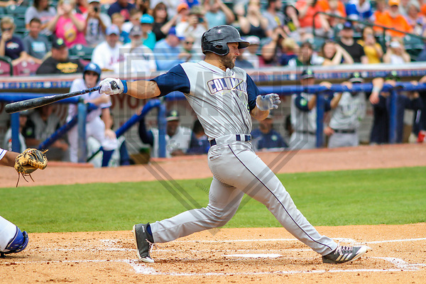 Columbia Fireflies outfielder Tim Tebow (15) during a South Atlantic League game against the Lexington Legends on May 28, 2017 at Whitaker Bank Ballpark in Lexington, Kentucky.  Columbia defeated Lexington 3-0. (Brad Krause/Krause Sports Photography)