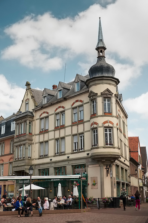 Beautiful architecture, just built for tourist enjoyment, seems to be the norm in the medieval city of Colmar.